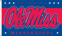 Mississippi Rebels 3' x 5' Flag w/Grommets NCAA Team Logo
