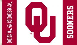 Oklahoma Sooners 3' x 5' Flag w/Grommets NCAA Crimson & Cream