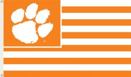 Clemson Tigers College Team Logo 3' x 5' Flag w/Grommets
