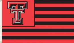 Texas Tech Red Raiders College Team Logo 3' x 5' Flag w/Grommets