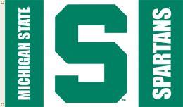 Michigan State Spartans 3' x 5' Flag w/Grommets NCAA College Logo