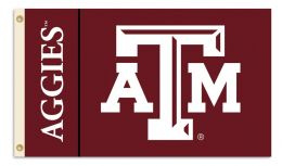 Texas A&M Aggies 3' x 5' Flag w/Grommets College Team Logo