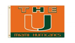 Miami Hurricanes College Team Logo 3' x 5' Flag w/Grommets