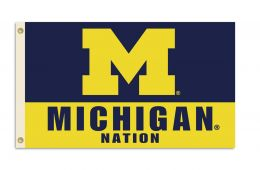 Michigan Wolverines NCAA Team Logo 3' x 5' Flag w/Grommets