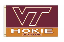 Virginia Tech Hokies NCAA Team Logo 3' x 5' Flag w/Grommets