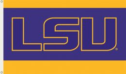 Louisiana State Tigers 3' x 5' Flag w/Grommets College Logo
