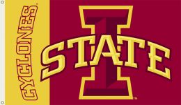 Iowa State Cyclones 3' x 5' Flag w/Grommets NCAA Team Logo