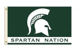 Michigan State Spartans College Team Logo 3' x 5' Flag w/Grommets
