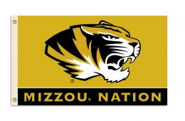 Missouri Tigers 3' x 5' Flag w/Grommets Realtree Camo Background