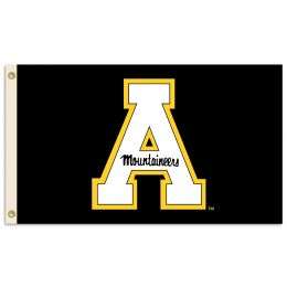 Appalachian State Black Background 3' x 5' Logo Flag w/Grommets