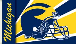 Michigan Wolverines 3' x 5' Flag w/Grommets Helmet Design