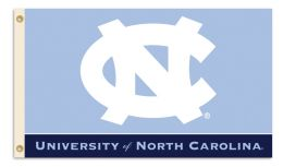 North Carolina Tar Heels 3' x 5' Flag w/Grommets College Logo