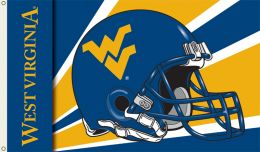 West Virginia Mountaineers 3' x 5' Flag w/Grommets - Helmet Design