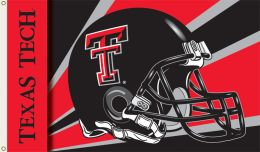 Texas Tech Red Raiders Logo 3' x 5' Flag w/Grommets Helmet Design
