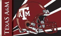 Texas A&M Aggies 3' x 5' Flag w/Grommets Helmet Design Team Logo
