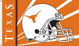 Texas Longhorns College Team 3' x 5' Flag w/Grommets Helmet Design