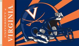 Virginia Cavaliers 3' x 5' Flag w/Grommets Helmet Design Team Logo