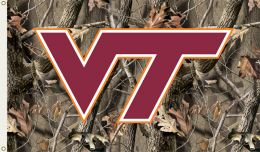 Virginia Tech Hokies Realtree Camo 3' x 5' Flag w/Grommets