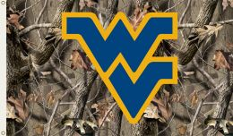 West Virginia Mountaineers Realtree Camo 3' x 5' Flag w/Grommets