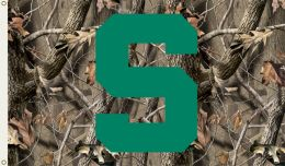 Michigan State Spartans Realtree Camo 3' x 5' Flag w/Grommets