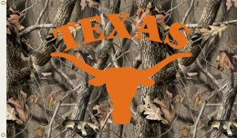 Texas Longhorns 3' x 5' Flag w/Grommets Realtree Camo Background