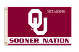 Oklahoma Sooners 3' x 5' Flag w/Grommets College Team Logo