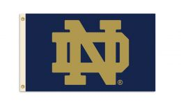 Notre Dame NCAA College Team Logo 3' x 5' Flag w/Grommets