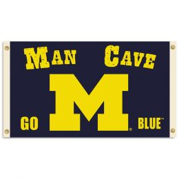 Michigan Wolverines Man Cave 3' x 5' Flag w/ 4 Grommets