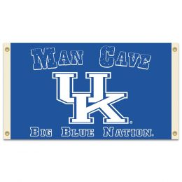 Kentucky Wildcats NCAA Logo Man Cave 3' x 5' Flag w/ 4 Grommets