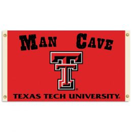 Texas Tech Red Raiders Team Logo Man Cave 3' x 5' Flag w/ 4 Grommets