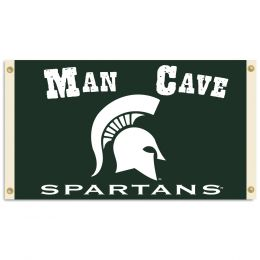 Michigan State Spartans Man Cave 3' x 5' Flag w/ 4 Grommets