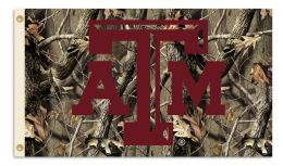 Texas A&M Aggies 3' x 5' Flag w/Grommets Realtree Camo Background