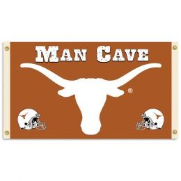 Texas Longhorns Man Cave 3' x 5' Flag w/ 4 Grommets College Logo