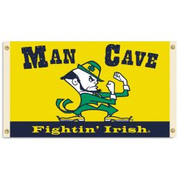 Notre Dame Fighting Irish Man Cave 3' x 5' Flag w/ 4 Grommets
