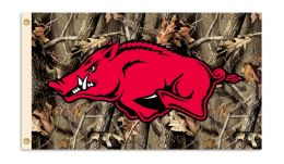 Arkansas Razorbacks Realtree Camo Background 3' x 5' Flag