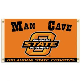 Oklahoma State Cowboys Man Cave 3' x 5' Flag w/ 4 Grommets