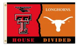Texas Tech vs. Texas 3' x 5' Flag  Rivalry House Divided