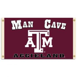 Texas A&M Aggies Man Cave 3' x 5' Flag w/ 4 Grommets Team Logo