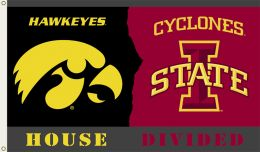 Iowa vs Iowa State 3' x 5' Flag w/Grommets Rivalry House Divided