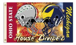 Michigan vsOhio St. 3' x 5' Flag w/Grommets Helmet House Divided