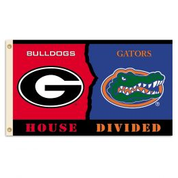Georgia vs Florida 3' x 5' Flag w/Grommets Rivalry House Divided