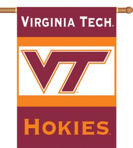 "Virginia Tech Hokies Team Logo 2-Sided 28"" X 40"" Banner w/ Pole Sleeve"
