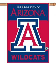 "Arizona Wildcats 2-Sided 28"" X 40"" Logo House Flag w/ Pole Sleeve"