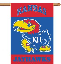 "Kansas Jayhawks Logo 2-Sided 28"" X 40"" Banner w/ Pole Sleeve"