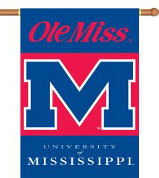 "Mississippi Rebels 2-Sided 28"" X 40"" Banner w/ Pole Sleeve"