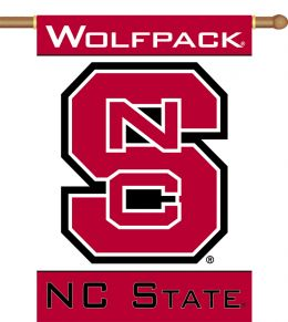 "N. Carolina State Wolfpack 2-Sided 28"" X 40"" Banner w/ Pole Sleeve"