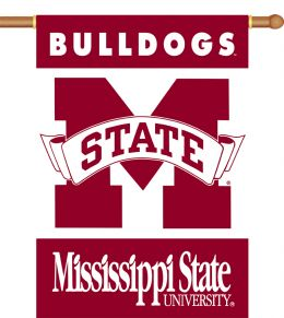"Mississippi State Bulldogs 2-Sided 28"" X 40"" Banner w/ Pole Sleeve"