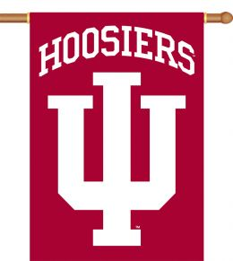 "Indiana Hoosiers 2-Sided 28"" X 40"" Banner w/ Pole Sleeve"