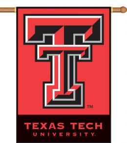 "Texas Tech Red Raiders 2-Sided 28"" X 40"" Banner w/ Pole Sleeve"