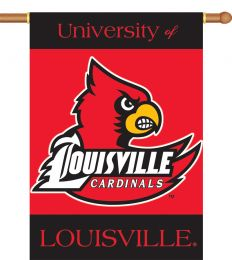 "Louisville Cardinals Logo 2-Sided 28"" X 40"" Banner w/ Pole Sleeve"